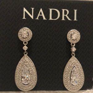 Nadri Clear White Drop Earrings NWT